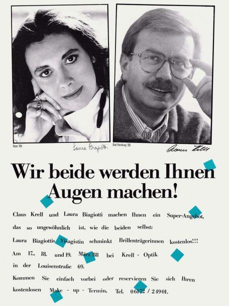 Claus Krell Optik - Laura Biagiotti 1988