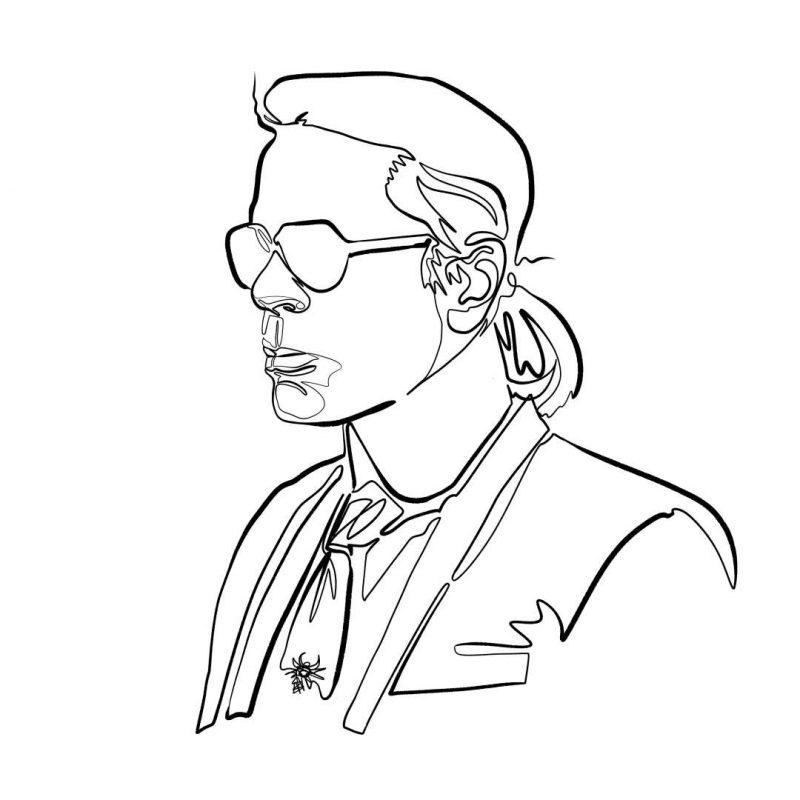 Karl Lagerfeld in Memoriam, Tod